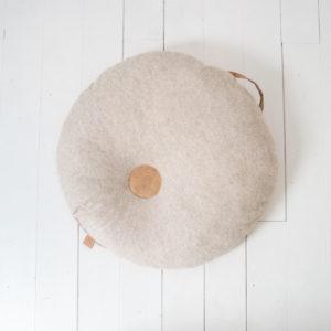 pouf en liège et laine